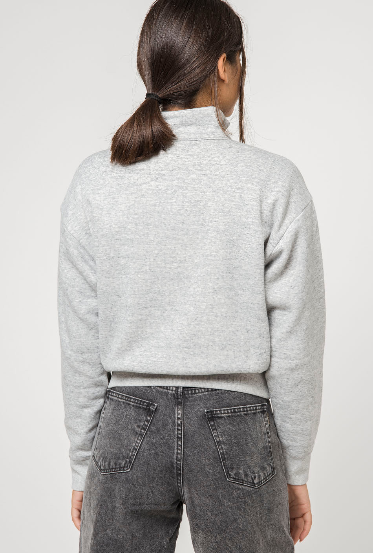 Champion gray neck sweatshirt