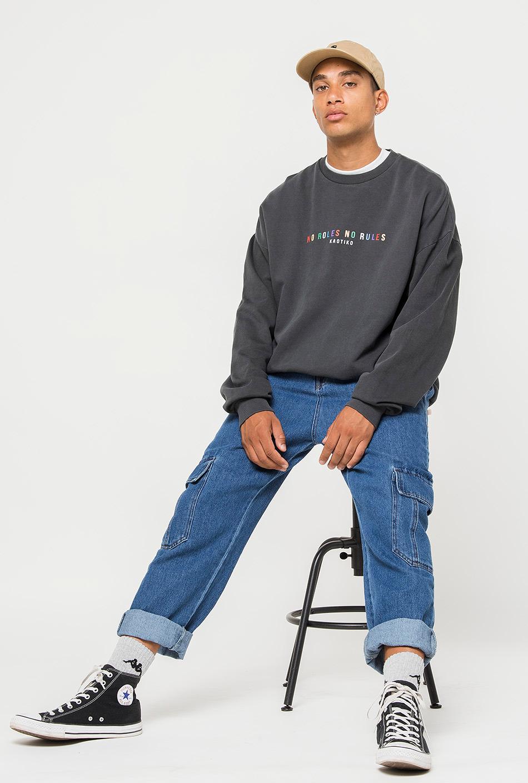 No Roles Black Sweatshirt