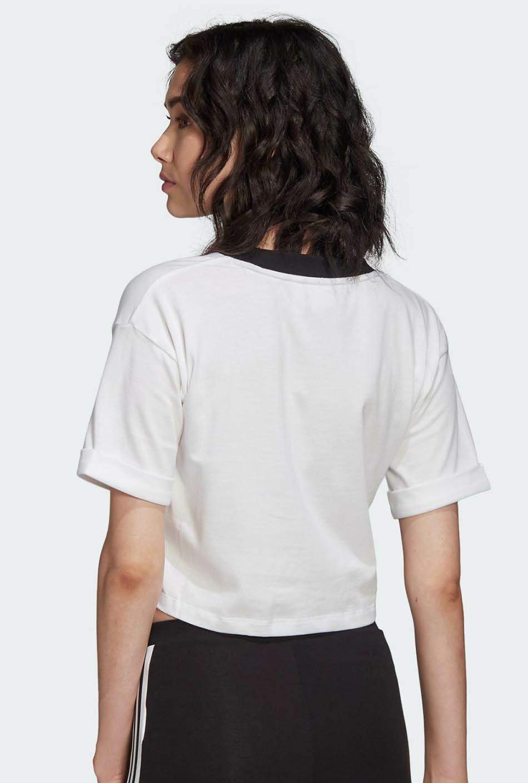 Top Crop Adidas WHITE/BLACK