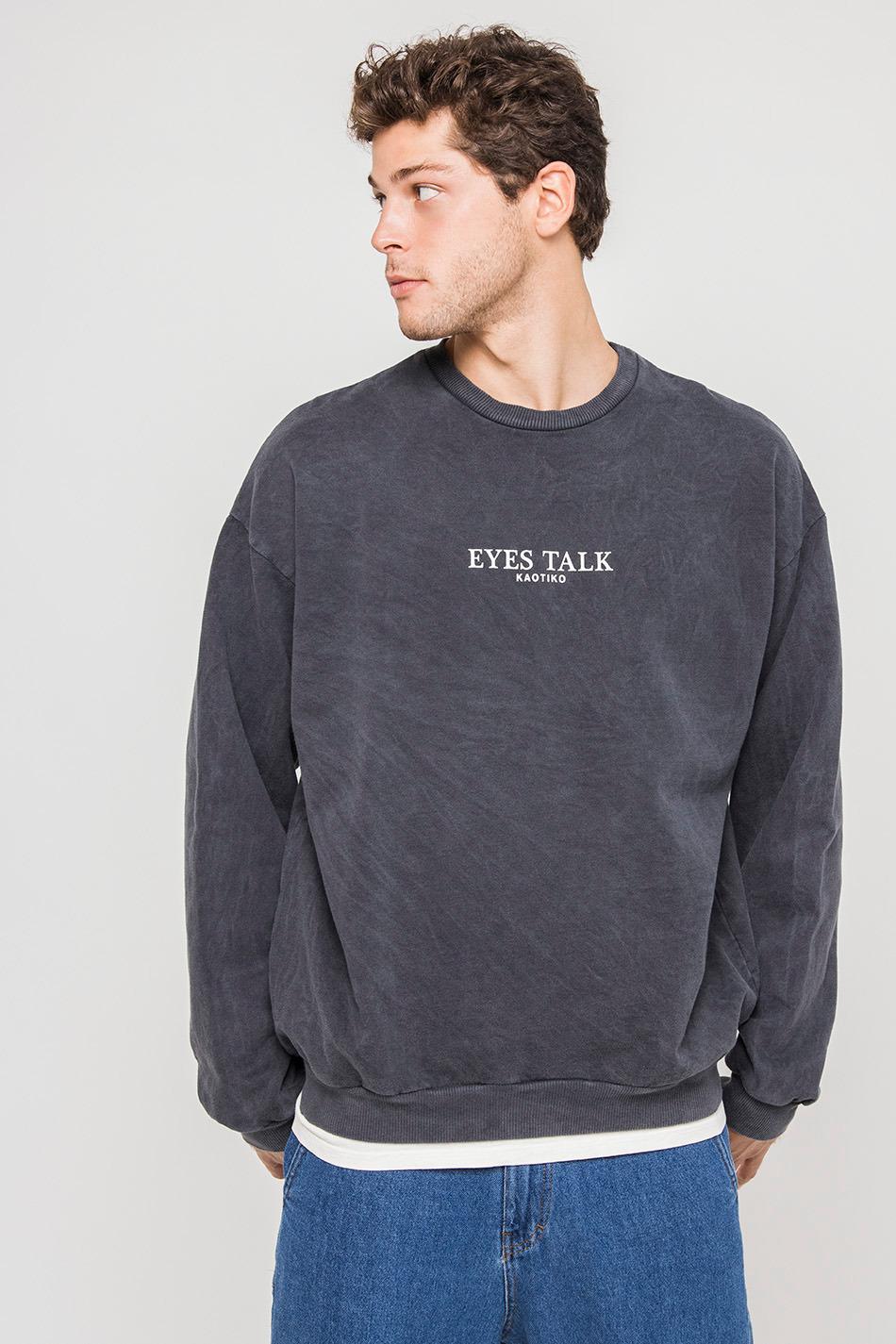 Eyes Talk Washed Sweatshirt
