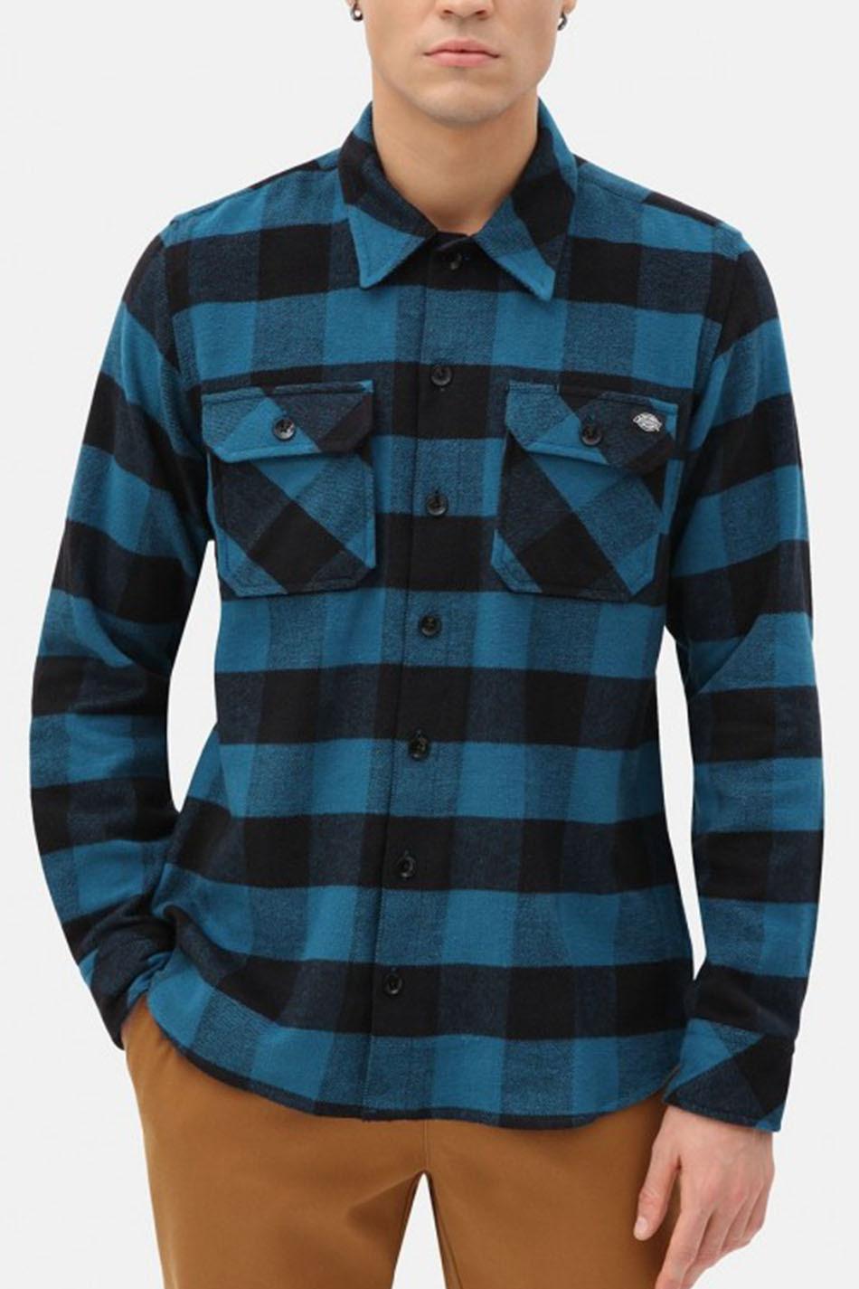 Camisa Dickies Sacramento Relaxed Long Coral Blue