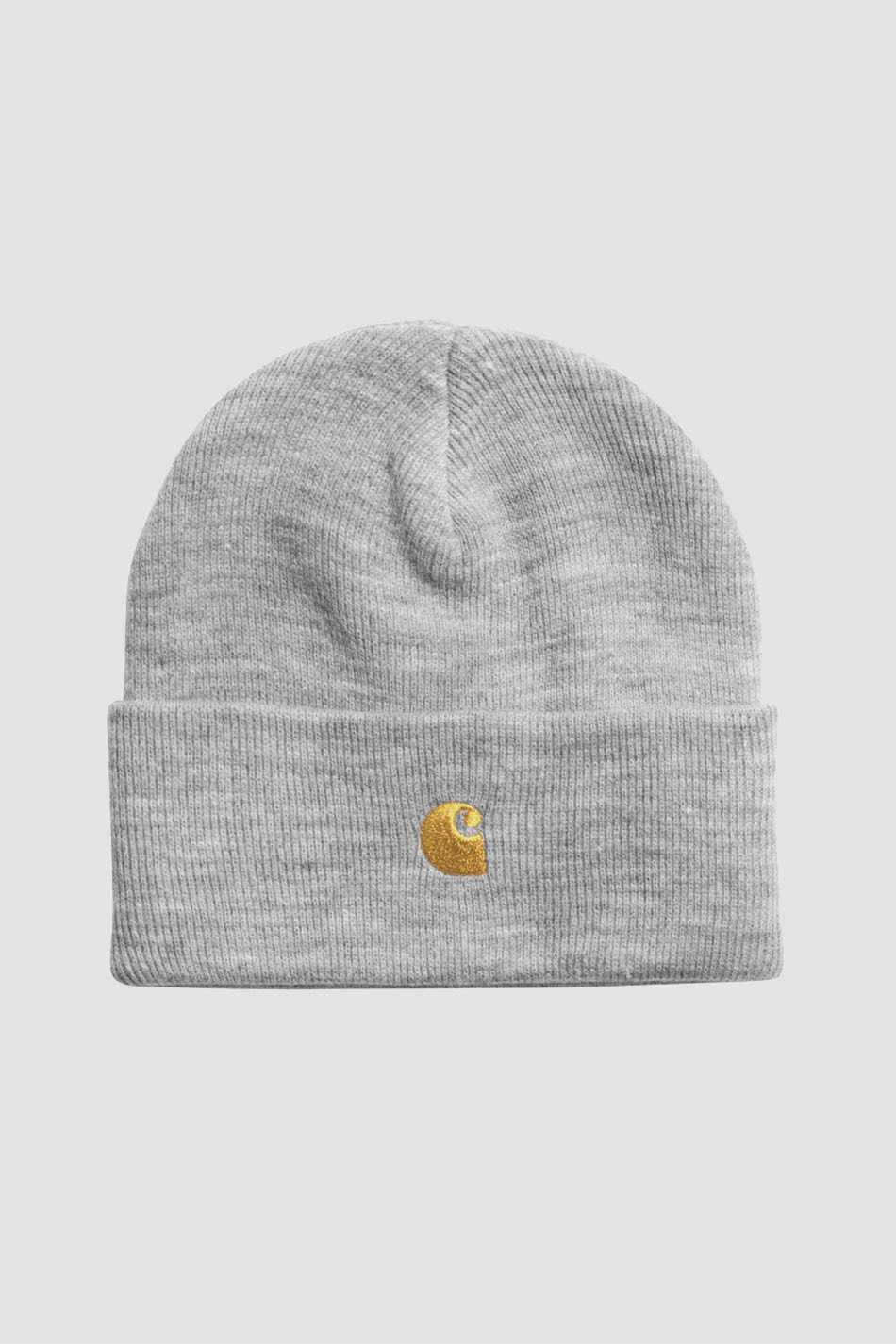Carhartt Chase Beanie Grey heather/Gold Hat