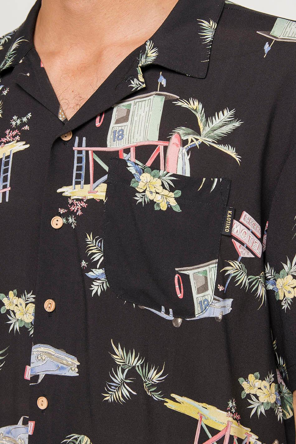 Camisa Miami Negra