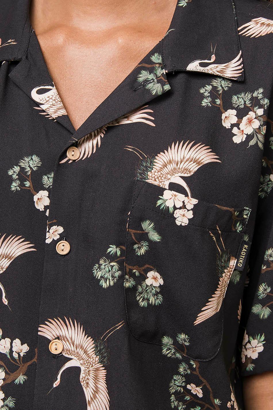 Kyoto Schwarzes T-Shirt