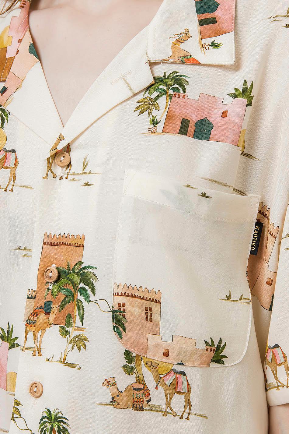 Camisa Sahara Ecru