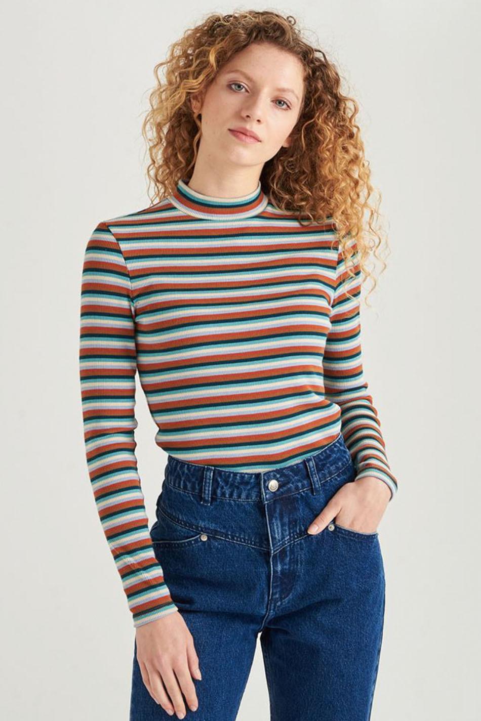 Camiseta 24 Colours Striped