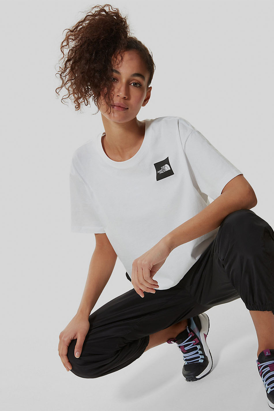 The North Face Crop Fine White T-Shirt