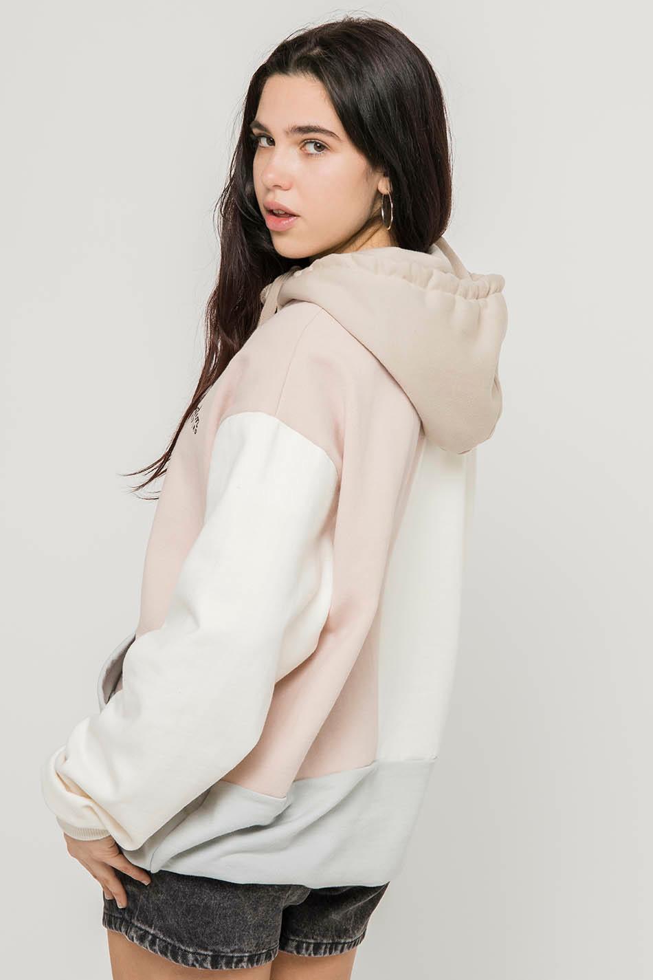 Sudadera Aiden Pink/Ivory/Cement