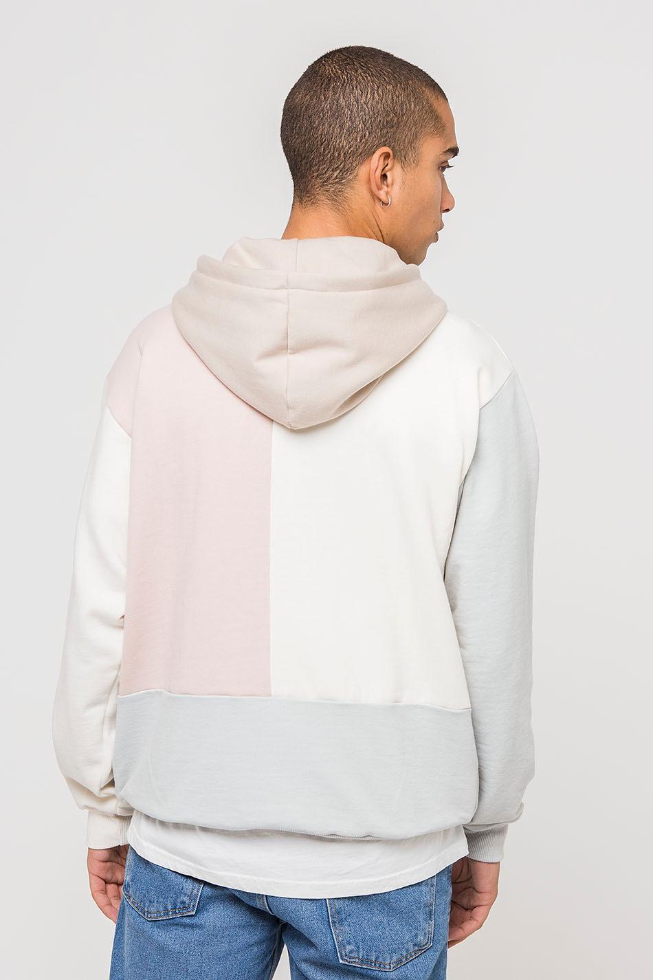 Aiden-Sweatshirt-Rosa / Elfenbein / Zement