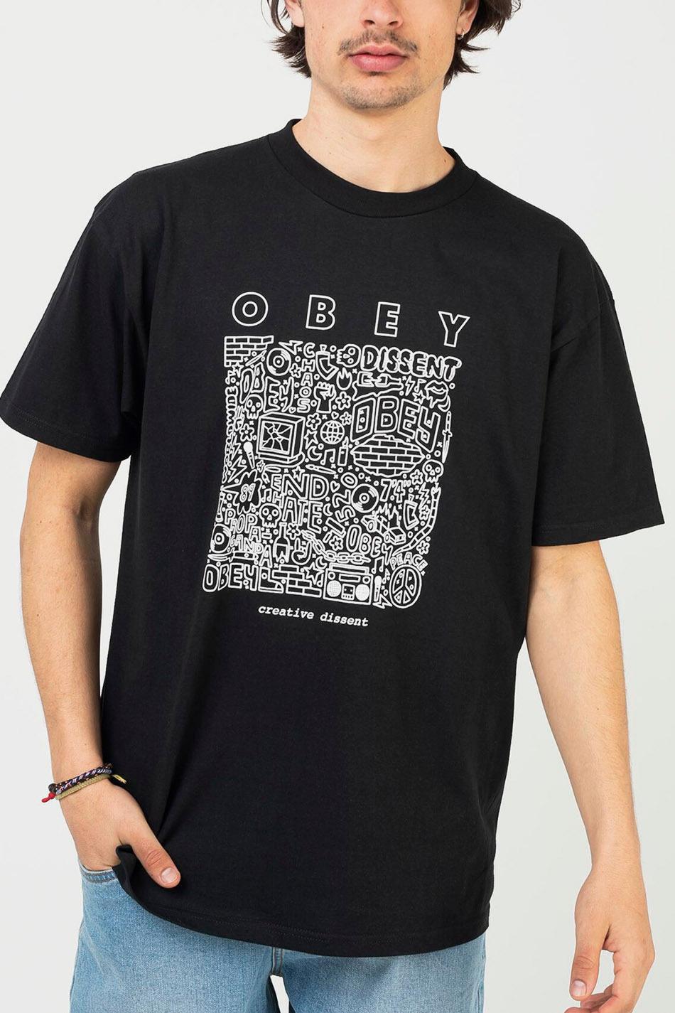 Obey Creative Dissent Classic Black T-shirt