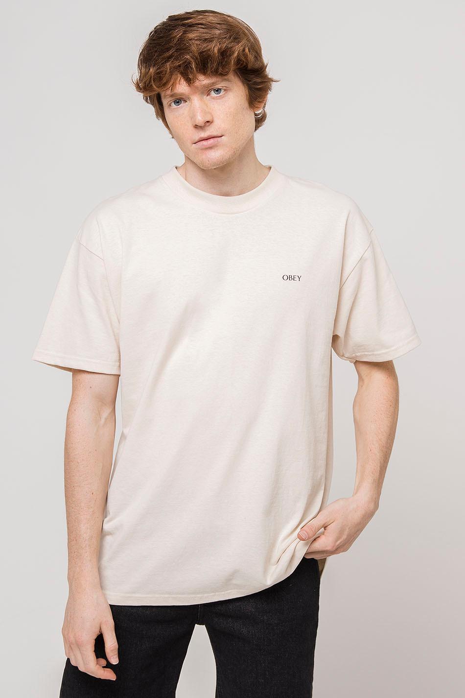Obey Crosswalk Sign Cream T-Shirt