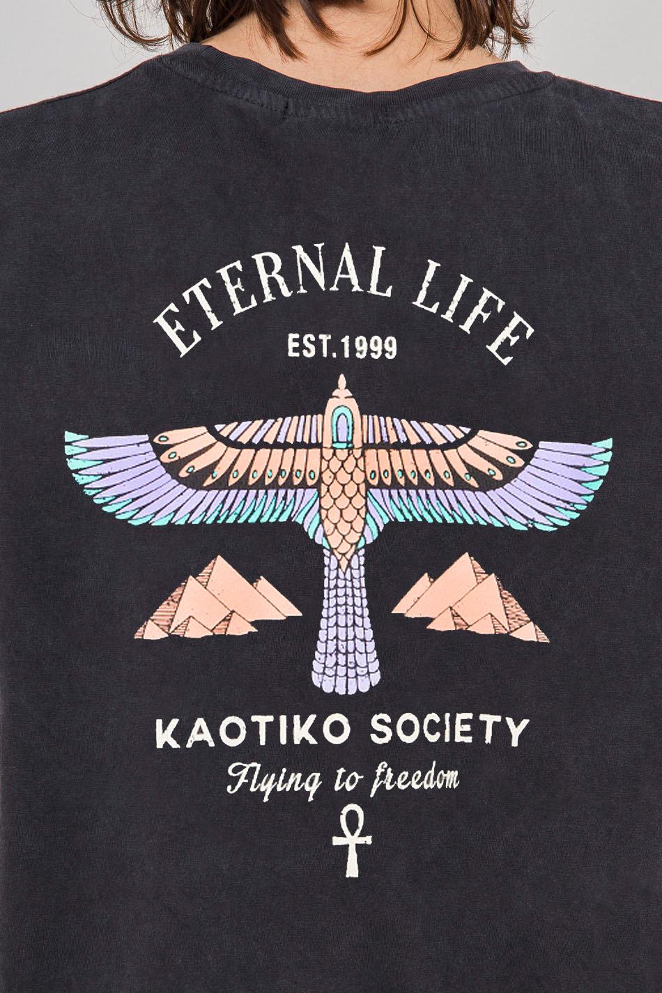 Camiseta Washed Eternal Life Black