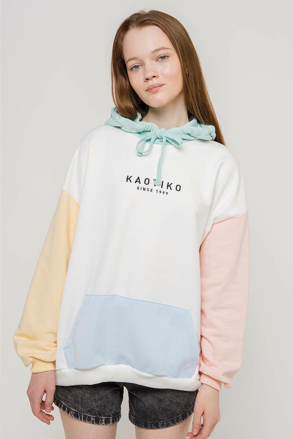 Sudadera de capucha  Kaotiko Block Pastel