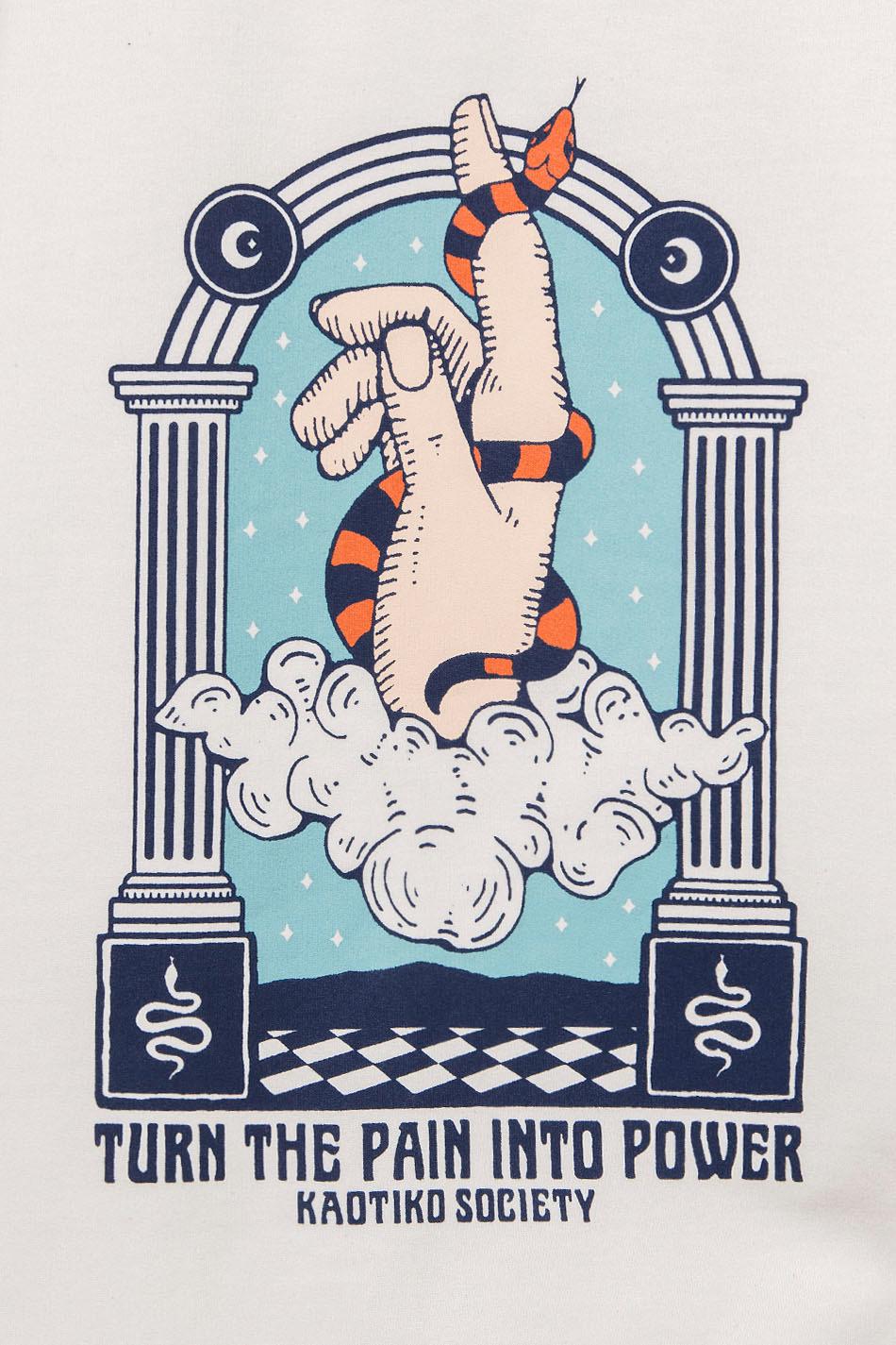 Sudadera Capucha Hand Snake Marfil