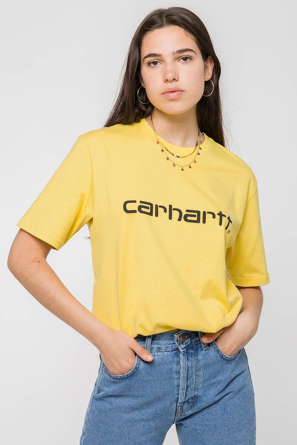 Samarreta Carhartt WIP Script groga