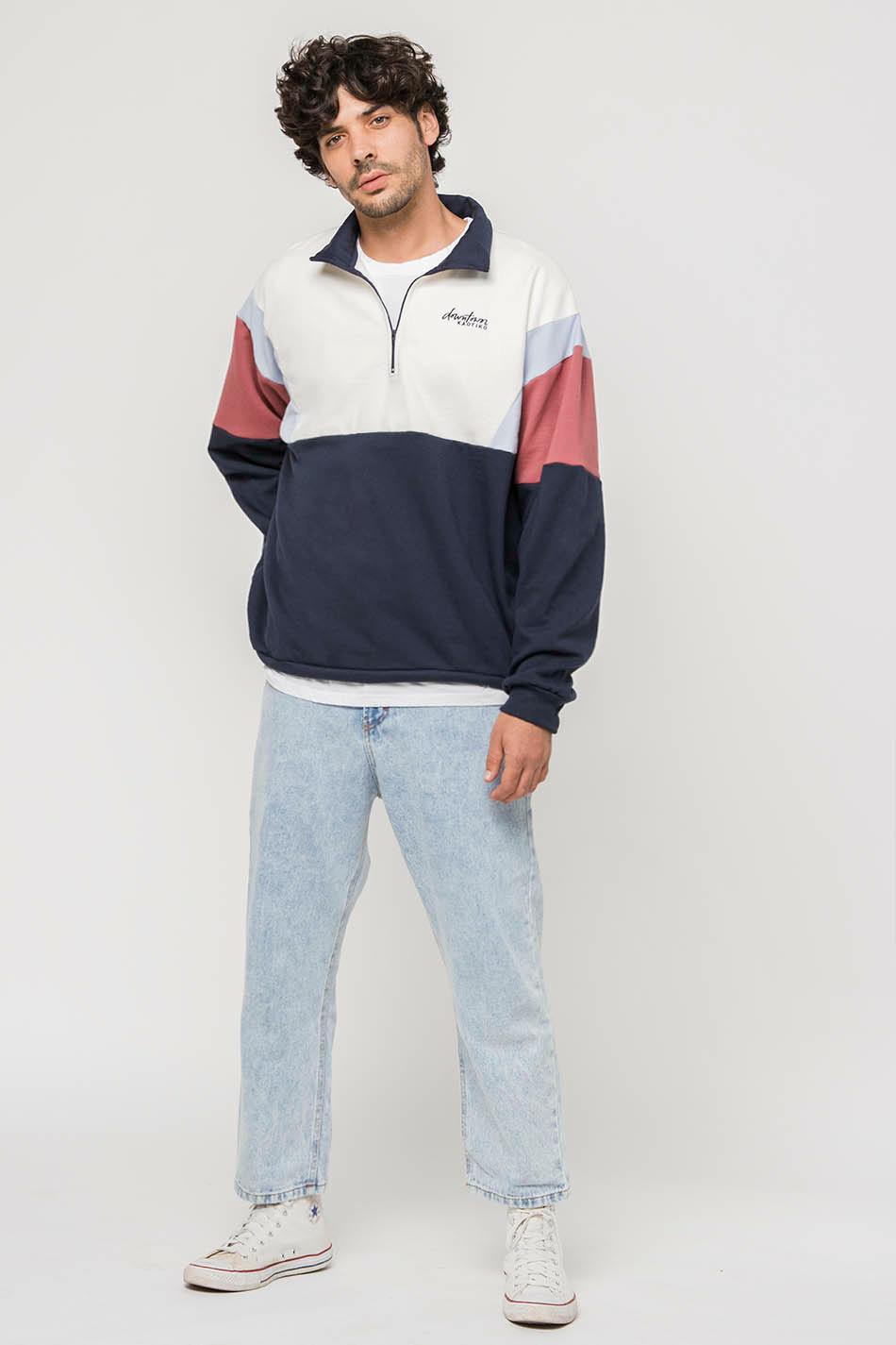 Navy/ Baby Blue/ Maroon Colin Sweatshirt