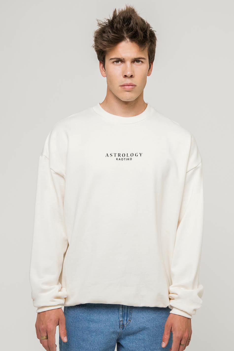 Scorpion Astrology Ivory sweatshirt