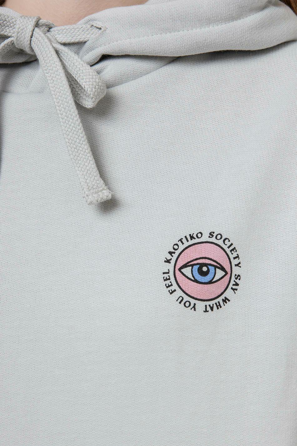 Sudadera Capucha Eye Say Cemento
