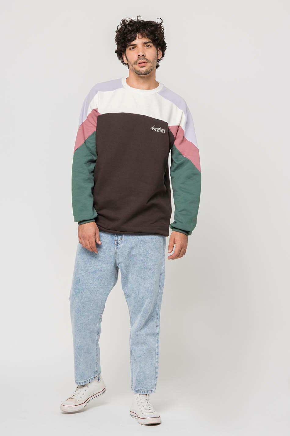 Dru Ivory/Grey/Mauve Sweatshirt