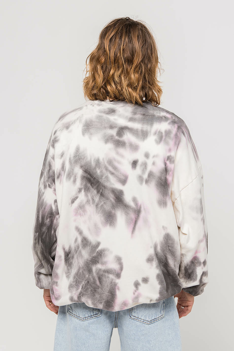 Tie Dye Black / White Sweatshirt