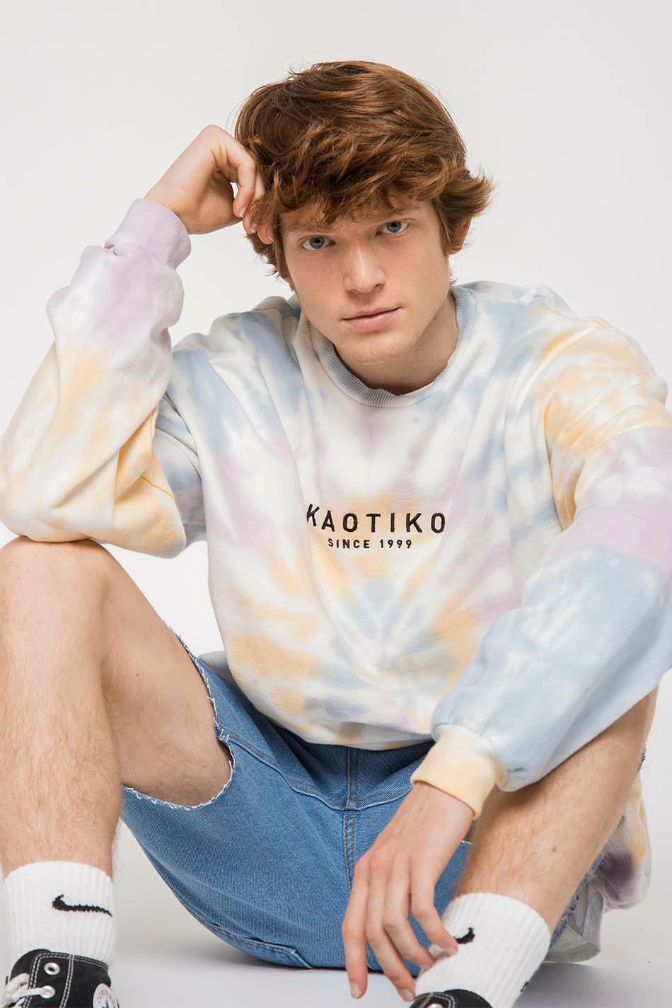 Spiral Tie Dye Blue/Yellow/Pink Sweatshirt