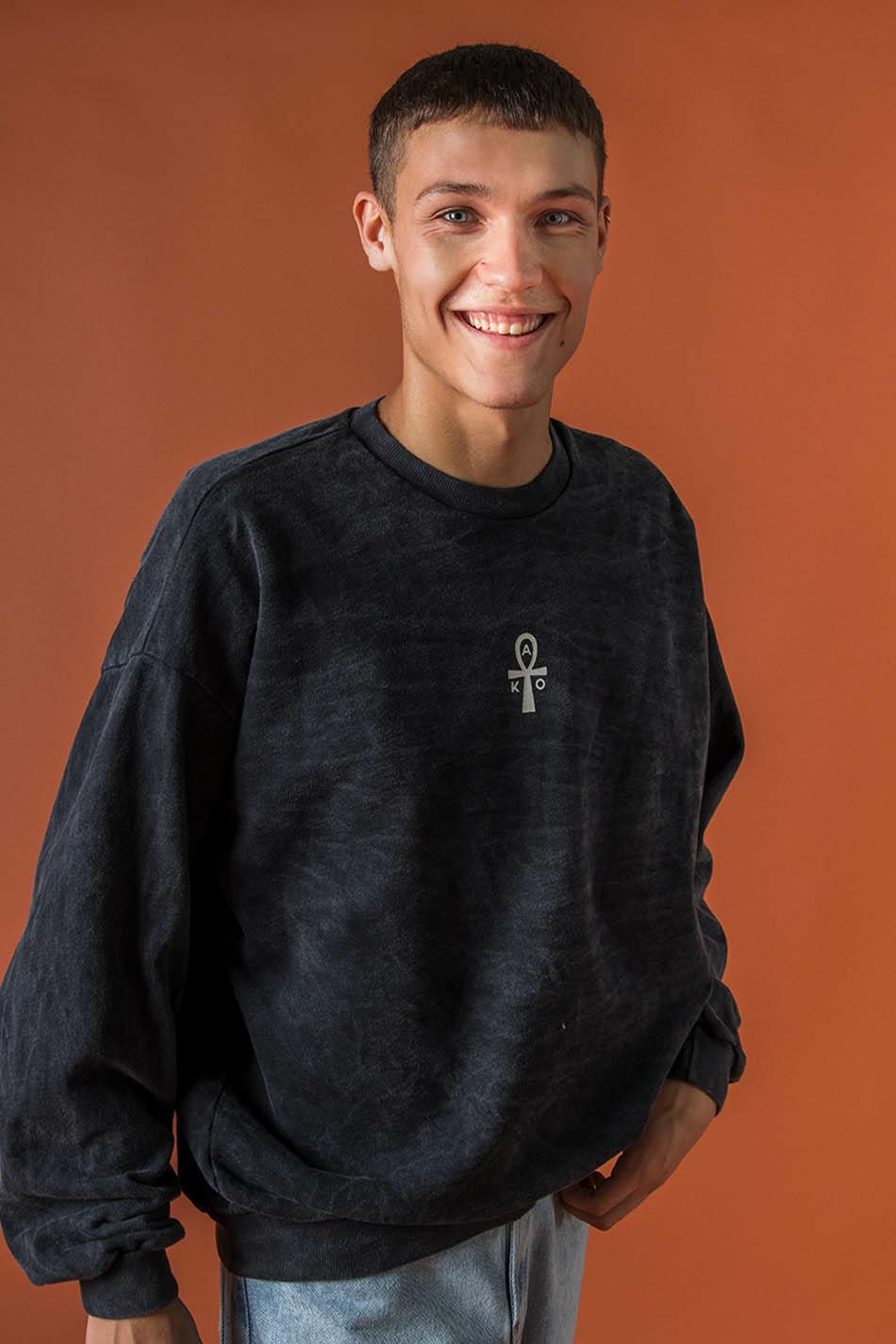 Washed Black Scarab Sweatshirt
