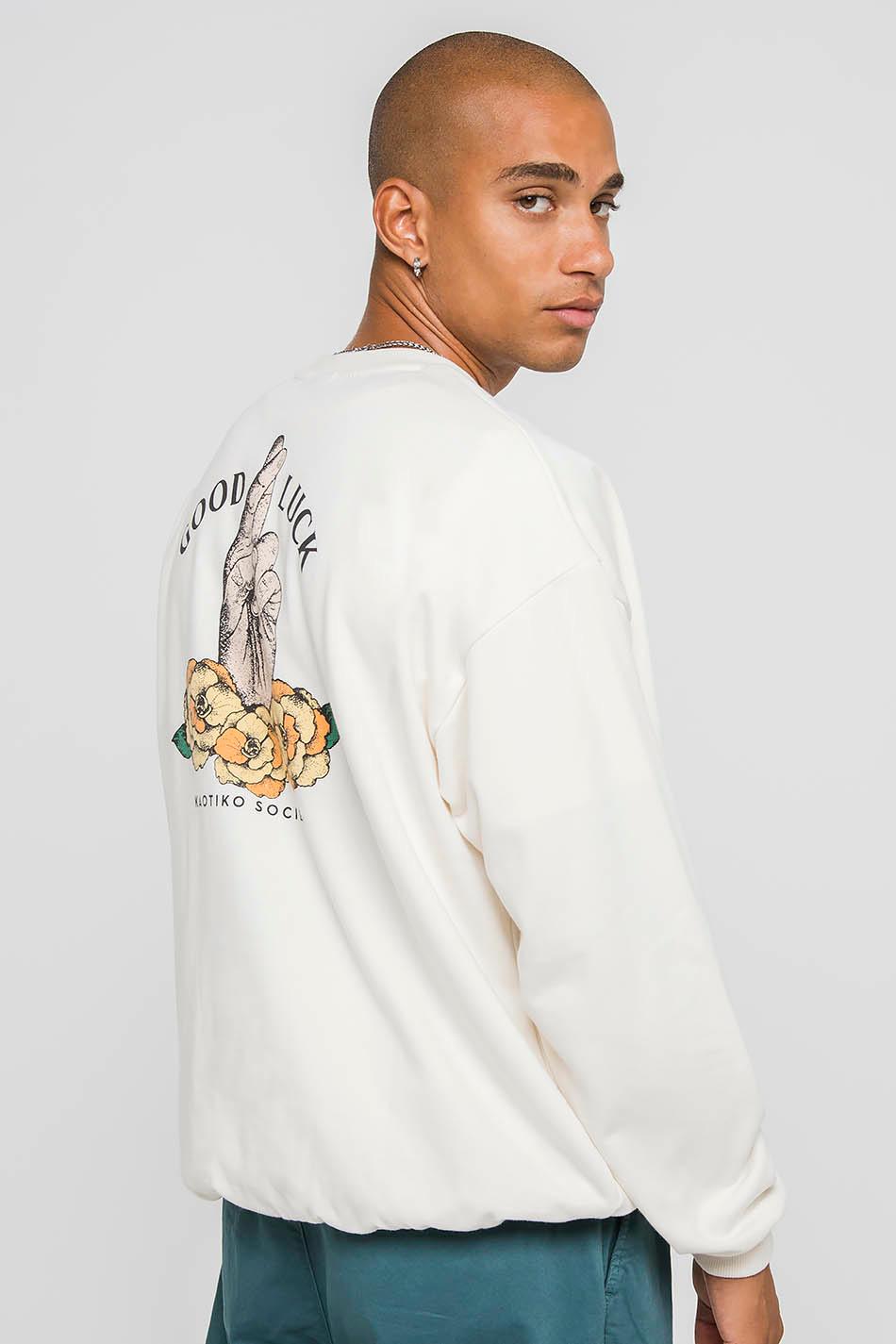 Good Luck Ivory Sweatshirt