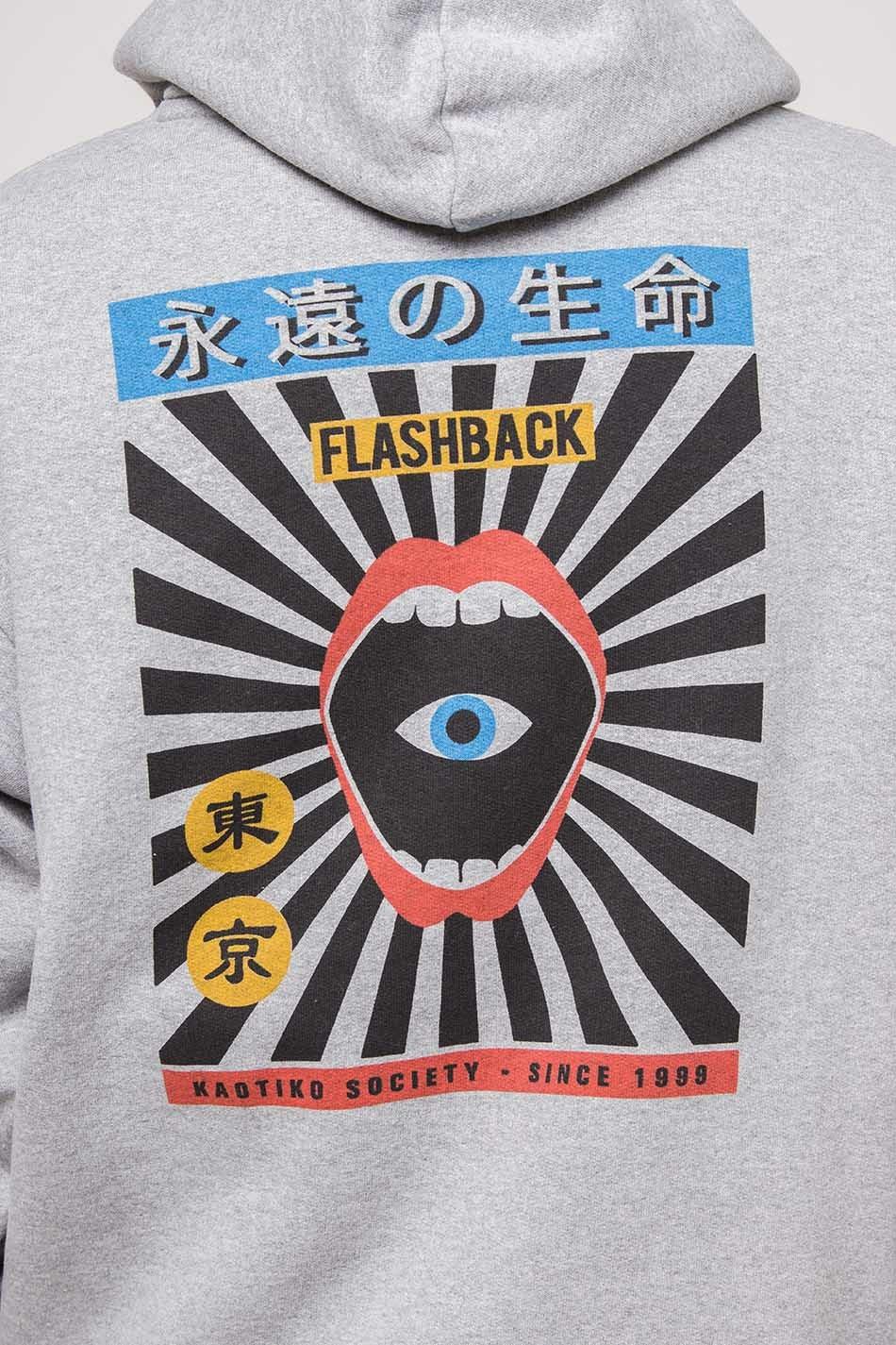 Grey Flashback Hoodie