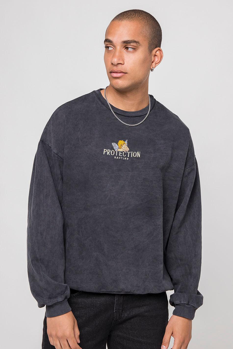Black Feelings Washed Sweatshirt