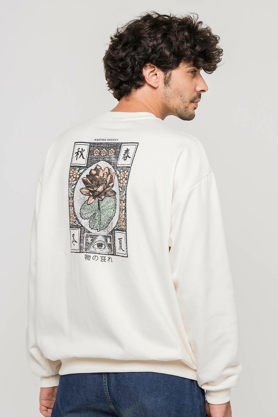 Cream Lottus Sweatshirt