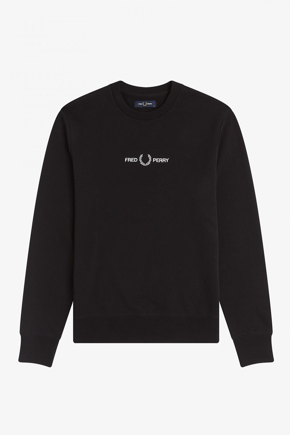 Black Fred Perry Embroidered Sweatshirt