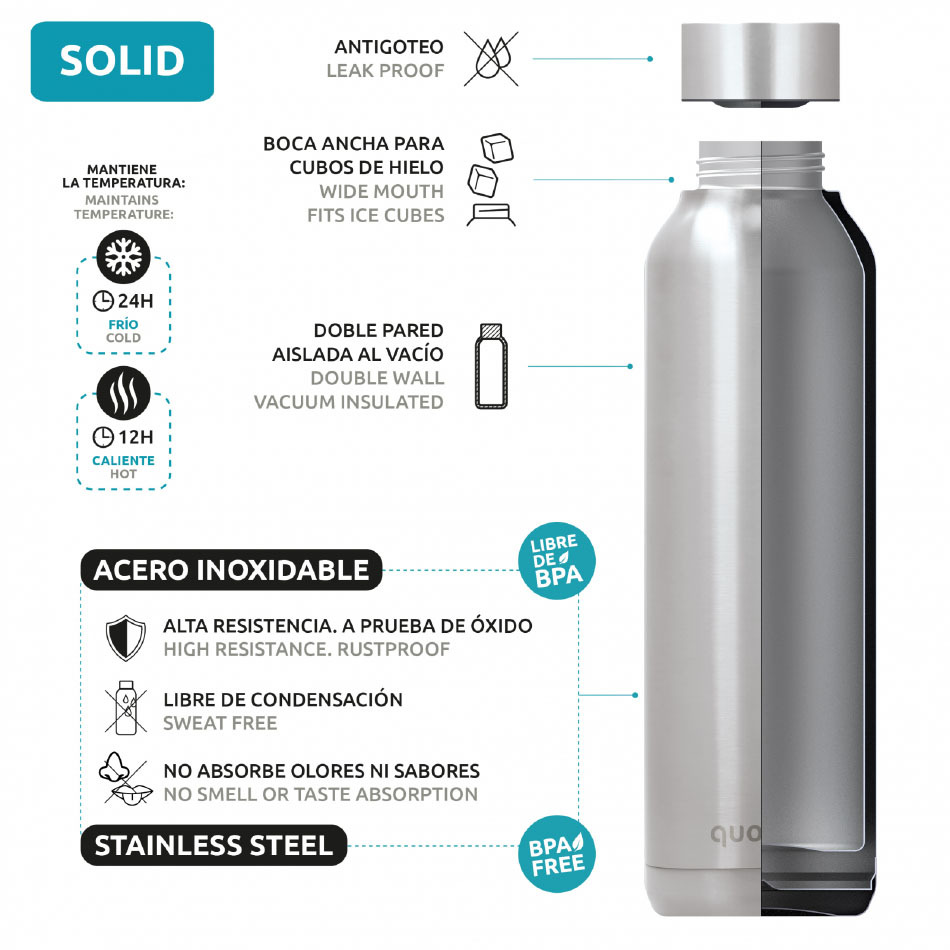 Quokka Solid Steel Rosewood 630ml