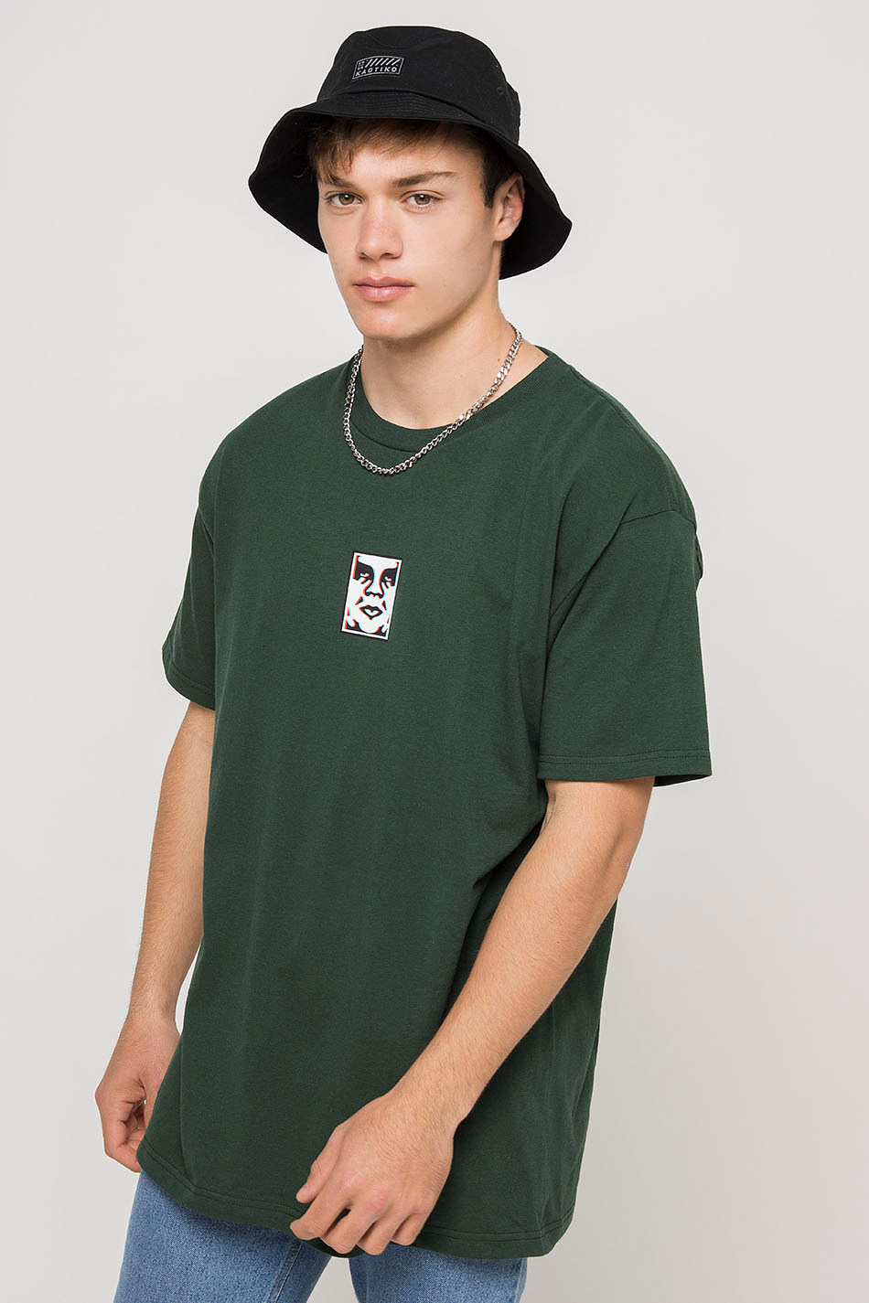 Obey Classic Double Vision Green T-shirt
