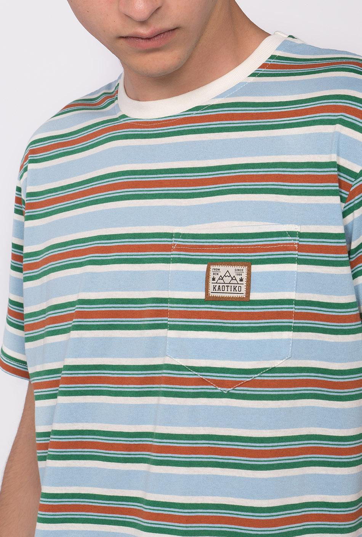 kaotiko light-blue t-shirt with stripes