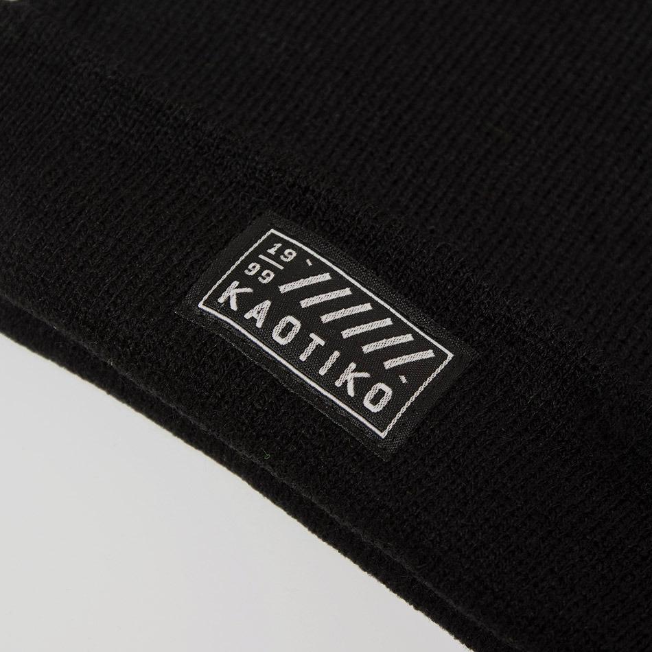 Kaotiko beanie long black