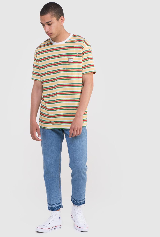 camiseta kaotiko rayas amarillo