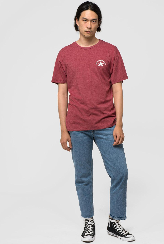 burgundy kaotiko adventure t-shirt