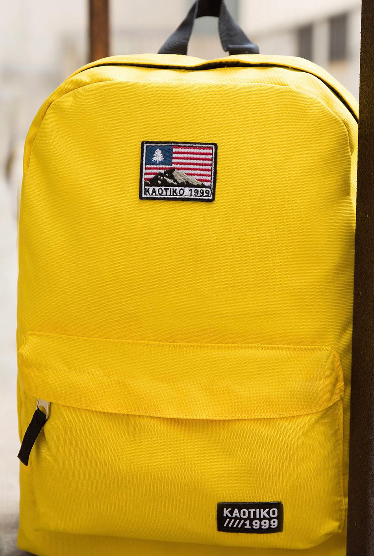 Mochila USA amarilla