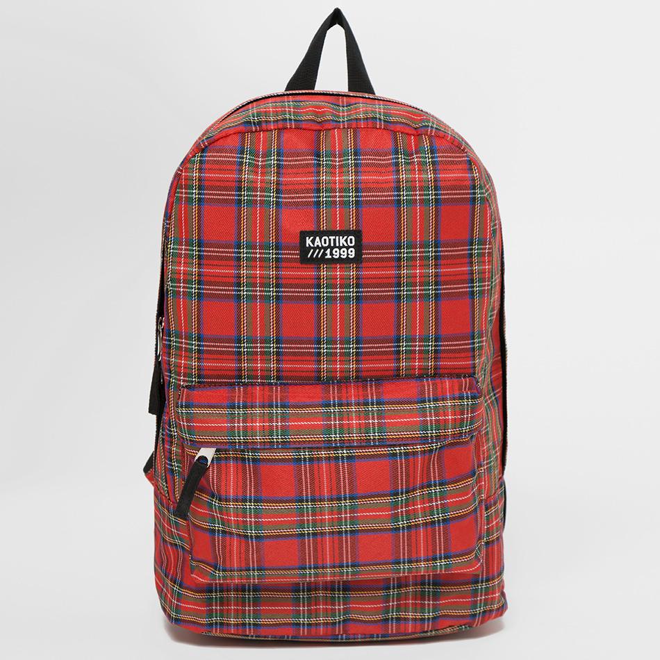 mochila cuadro escocés