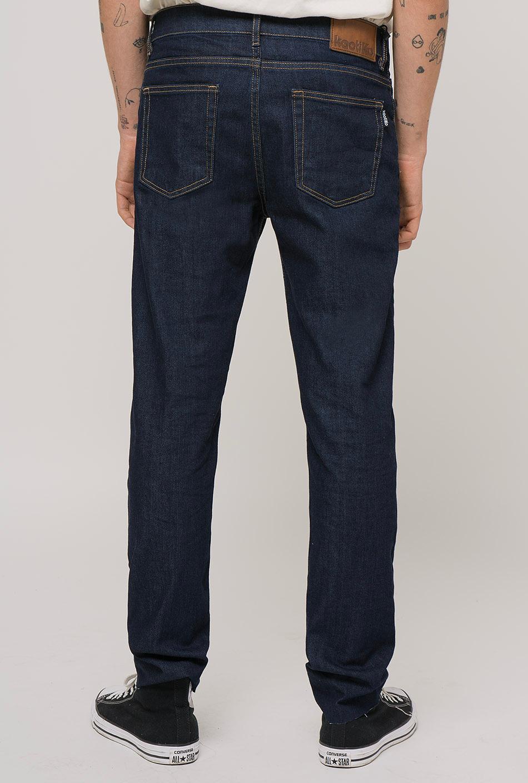 basic dark denim trousers