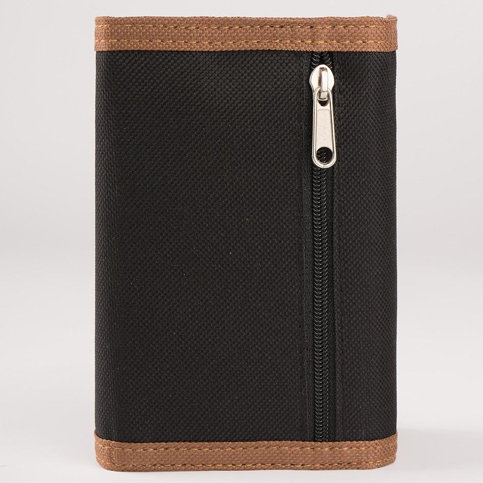 Wallet Canvas Black/Cognac