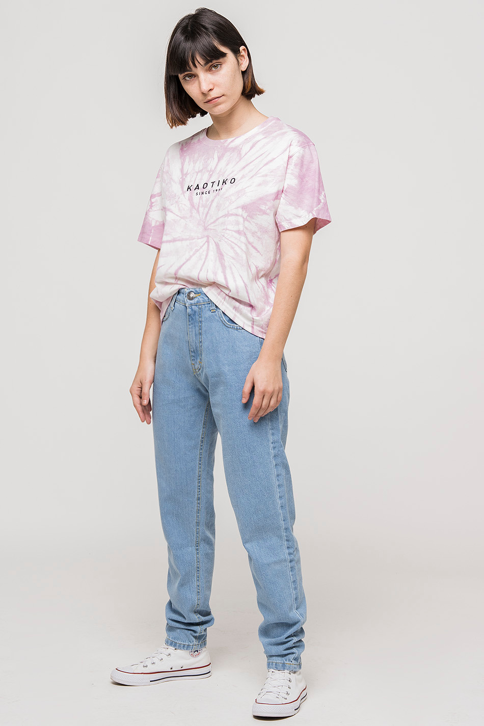 oversize denim trousers