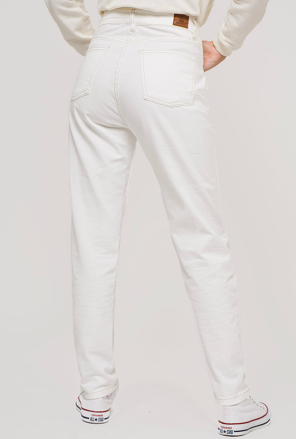 white oversize trousers
